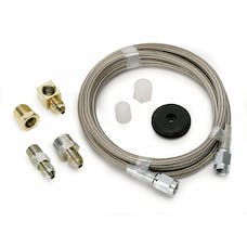 AutoMeter Products 3235 LINE; BRAIDED STAINLESS STEEL; #3 DIA.; 4FT. LENGTH;-3AN AND 1/8in. NPTF FITTING