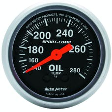 AutoMeter Products 3341 GAUGE; OIL TEMP; 2 1/16in.; 140-280deg.F; MECHANICAL; SPORT-COMP