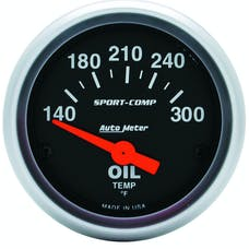 AutoMeter Products 3348 GAUGE; OIL TEMP; 2 1/16in.; 140-300deg.F; ELECTRIC; SPORT-COMP