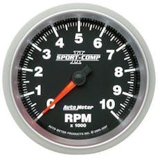 AutoMeter Products 3697 GAUGE; TACHOMETER; 3 3/8in.; 10K RPM; IN-DASH; SPORT-COMP II