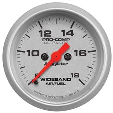 """AutoMeter Products 4370 2-1/16"""" Analog Wideband 8-18, Ultra-Lite"""