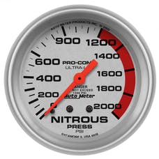 AutoMeter Products 4428 Gauge; Nitrous Pressure; 2 5/8in.; 2000psi; Mechanical; Ultra-Lite