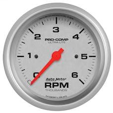 AutoMeter Products 4475 GAUGE; TACHOMETER; 3 3/8in.; 6K RPM; IN-DASH; ULTRA-LITE