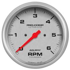 AutoMeter Products 4476 GAUGE; TACHOMETER; 5in.; 6K RPM; IN-DASH; ULTRA-LITE