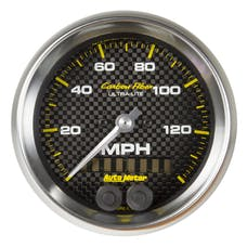 AutoMeter Products 4780 Speedometer Gauge, 3 3/8in, 140mph, GPS, Carbon Fiber