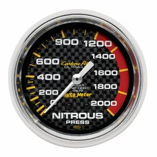 AutoMeter Products 4828 Gauge; Nitrous Pressure; 2 5/8in.; 1600psi; Mechanical; Carbon Fiber