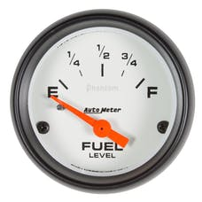 "AutoMeter Products 5719 Fuel Level Gauge 2 1/16"", 73?E TO 10?F Electric Phantom"
