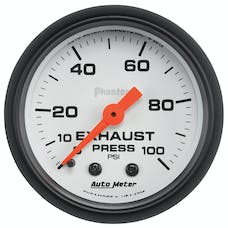 AutoMeter Products 5726 Phantom® Mechanical Exhaust Pressure Gauge