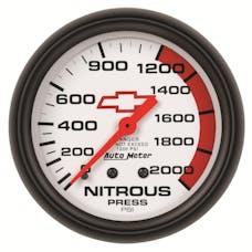 "AutoMeter Products 5828-00406 2-5/8"" Nitrous 0 2000 PSI Mech, GM"