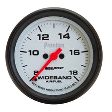 AutoMeter Products 5879 GAUGE; AIR/FUEL RATIO-WIDEBAND; ANALOG; 2 5/8in.; 8:1-18:1; STEPPER MOTOR; PHANT
