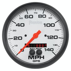 AutoMeter Products 5881 Gauge; Speedometer; 5in.; 140mph; GPS; Phantom