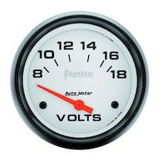 AutoMeter Products 5891 Gauge; Voltmeter; 2 5/8in.; 18V; Electric; Phantom