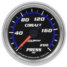 "AutoMeter Products 6134 Oil Pressure Gauge 2 1/16"", 200psi, Mechanical, Cobalt"