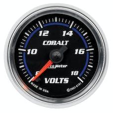 AutoMeter Products 6191 Gauge; Voltmeter; 2 1/16in.; 18V; Digital Stepper Motor; Cobalt