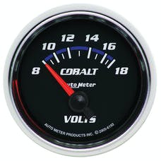 AutoMeter Products 6192 Gauge; Voltmeter; 2 1/16in.; 18V; Electric; Cobalt
