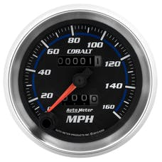 AutoMeter Products 6293 Gauge; Speedometer; 3 3/8in.; 160mph; Mechanical; Cobalt