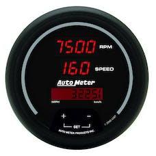 AutoMeter Products 6387 GAUGE; TACH/SPEEDO; 3 3/8in.; 260MPH/260 KM/H/10K RPM; ELEC. PROGRAM; DIGITAL; B