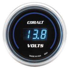 AutoMeter Products 6391 Gauge; Stereo Voltage; 2 1/16in.; 19V; Digital; Cobalt