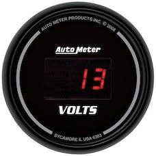 AutoMeter Products 6393 Gauge; Voltmeter; 2 1/16in.; 18V; Digital; Black Dial w/Red LED