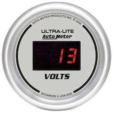AutoMeter Products 6593 Gauge; Voltmeter; 2 1/16in.; 18V; Digital; Silver Dial w/Red LED