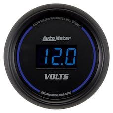 AutoMeter Products 6993 Gauge; Voltmeter; 2 1/16in.; 18V; Digital; Black Dial w/Blue LED