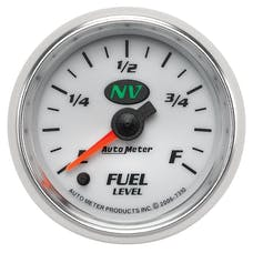 AutoMeter Products 7310 Electric Programmable Fuel Level Gauge 2 1/16in. 0 Ohms Empty 280 Ohms Full 7