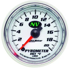 AutoMeter Products 7345 Gauge; Pyrometer (EGT); 2 1/16in.; 2000deg.F; Digital Stepper Motor; NV