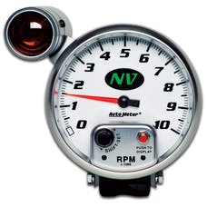 AutoMeter Products 7499 GAUGE; TACHOMETER; 5in.; 10K RPM; PEDESTAL W/EXT. SHIFT-LITE; NV