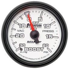 AutoMeter Products 7507 Boost/Vac 30In Hg/20 PSI Full Sweep