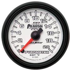 AutoMeter Products 7545 Gauge; Pyrometer (EGT); 2 1/16in.; 2000deg.F; Digital Stepper Motor; Phantom II
