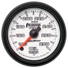 AutoMeter Products 7556 Gauge; Oil Temp; 2 1/16in.; 140-280deg.F; Digital Stepper Motor; Phantom II