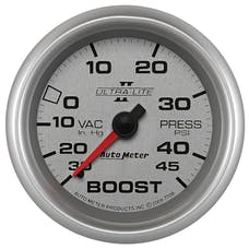 AutoMeter Products 7708 2-5/8in Boost-Vac, 30 IN. HG/45 PSI, Mech