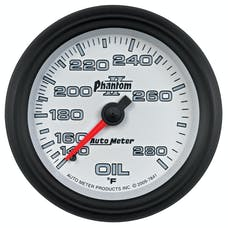 AutoMeter Products 7841 Gauge; Oil Temp; 2 5/8in.; 140-280deg.F; Mechanical; Phantom II