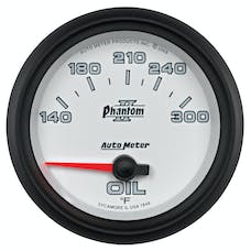 AutoMeter Products 7848 Gauge; Oil Temp; 2 5/8in.; 140-300deg.F; Electric; Phantom II
