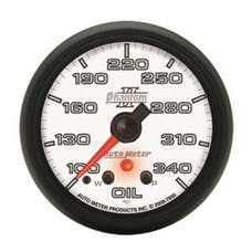 AutoMeter Products 7856 Gauge; Oil Temp; 2 1/16in.; 340deg.F; Stepper Motor w/Peak/Warn; Phantom II