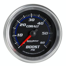 AutoMeter Products 7905 Boost Gauge, 2 5/8in, 60psi, Mechanical, Cobalt