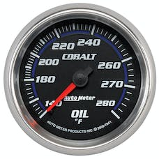 AutoMeter Products 7941 Gauge; Oil Temp; 2 5/8in.; 140-280deg.F; Mechanical; Cobalt