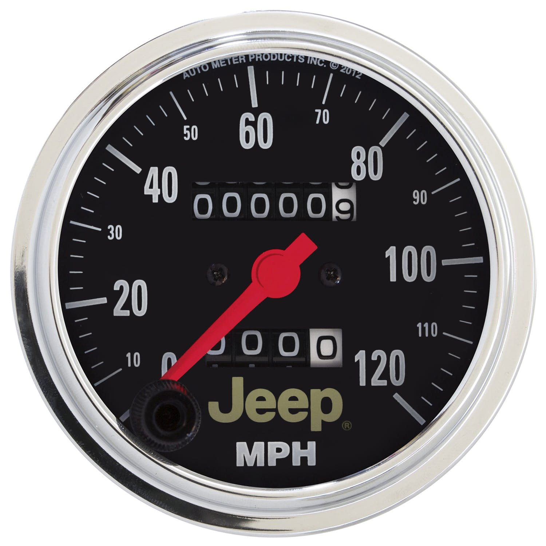 5 Silver//Chrome Elec 180 Mph Auto Meter P23021 Gauge Spek-Pro 5 Speedometer Programmable