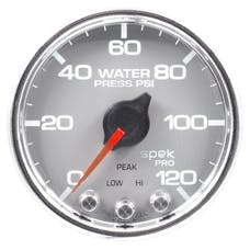 "AutoMeter Products P34521 Water Pressure Gauge 2 1/16"", 120PSI, Stepper Motor Silver"