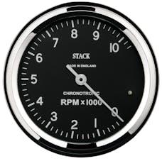 AutoMeter Products ST901096 Tacho Chronotronic 80mm Blk 10k RPM