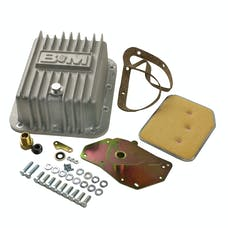 B&M 50281 Cast Deep Transmission Pan for C4 Transmission