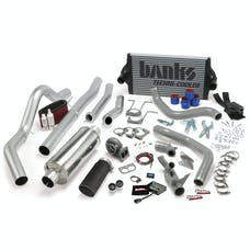 Banks Power 46356-B PowerPack System; Single Exh; S/S-Black Tip-1994-97 Ford 7.3L; CCLB; Auto