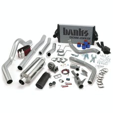 Banks Power 46361-B PowerPack System; Single Exh; S/S-Black Tip-1994-97 Ford 7.3L; CCLB; Man