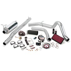 Banks Power 47416-B Stinger-Plus System; Single Exh; S/S-Black Tip-1999 Ford 7.3L F450/550; Auto