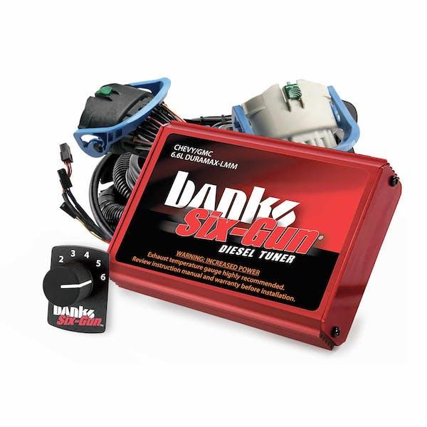 Banks Power 63887 Six-Gun Diesel Tuner; W/Switch-2007-10 Chevy 6.6L; LMM