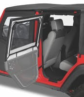 Bestop 51793-35 Jeep Wrangler TJ Element Upper Fabric Half Doors