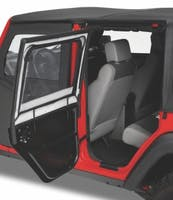 Bestop 51806-35 Jeep Wrangler JKU Element Upper Fabric Half Doors