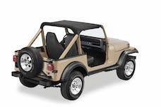 Bestop 52509-01 Jeep Wrangler YJ Strapless Standard Targa Style Bikini Top