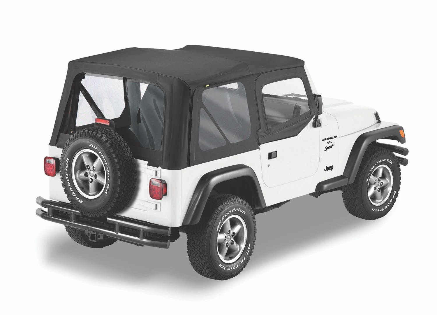Bestop 79123-37 Spice Sailcloth Replace-a-Top Soft Top with Tinted Windows and Upper Door Skins for 88-95 Wrangler YJ