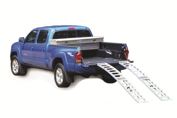 Better Built 25710065 Aluminum Center Folding Arched Loading Ramps (PR) (750lb Each)-96 FR